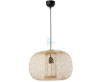 Light and streamlined bamboo hanging lampshade