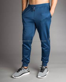 fa1667565 2017 Mens Workout Joggers Slim Fitted Sweat Bodybuilding Gym Lifting Pants