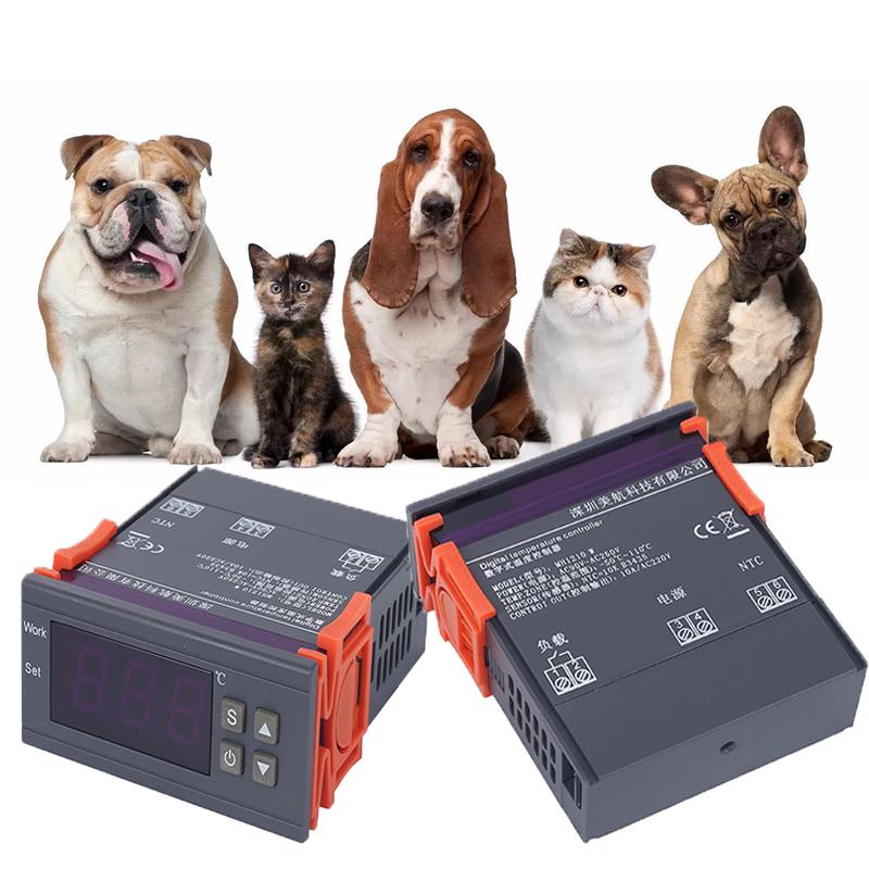 Mh-1210w multifonctionnel thermostat numérique réfrigération chauffage délai température contrôle la fonction de retard 250 V 10A