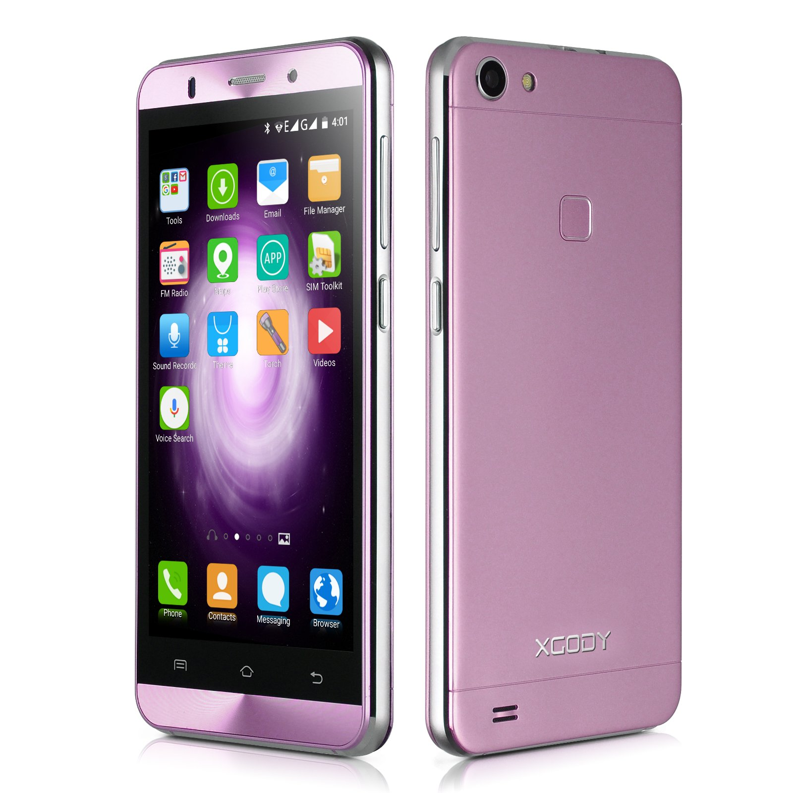 Xgody X15s Unlocked Smartphones Android 5.1 Dual Sim 3G 5 Inch Quad Core qHD Screen ROM 8GB Dual Camera 5.0MP with Wi-Fi GPS Bluetooth Celulares Pink