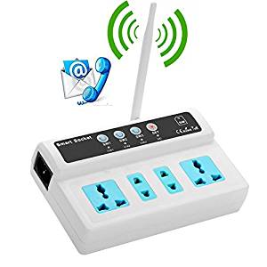 GSM Socket Switch Relay Remote Controlled 3 Ways Power Sockets Controller with Temperature Sensor Option SMS Call Timing control
