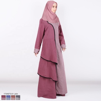 High Quality Modern Islamic Clothing Wholesale Double Layer