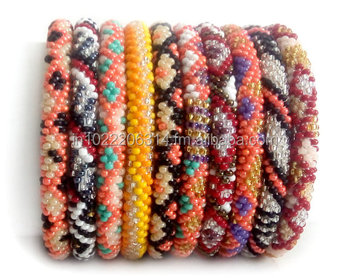 No 1 Nepal Roll On Bracelet Gl Bead