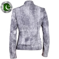 Company New Design Militariat Grey Classic Womens Leather Jacket