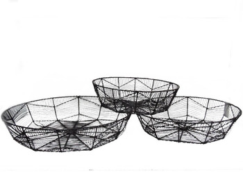 Metal Wire Storage Basket Buy Decorative Wire Basket Large Wire Baskets Wire Mesh Storage Baskets Product On Alibaba Com