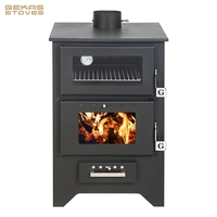 14,8 kW European Quality Wood Burning Stove with Oven | 80% Efficiency (Gekas Stoves - MG 450)