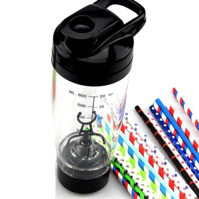कस्टम मुद्रण प्लास्टिक BPA मुक्त बिजली पाउडर सम्मिश्रण बोतल मिक्सर बैटरी संचालित स्वत: प्रोटीन प्रकार के बरतन