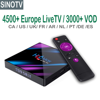 Italia Arabo Francese Canadese USA Latino Austain TV chhannel IPTV con Android RK3318 H96 MAX iptv scatola m3u