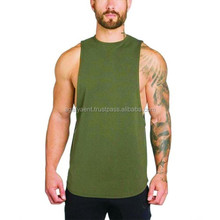 Soft Cotton Elastane blend Gym Fitted Muscle Tee
