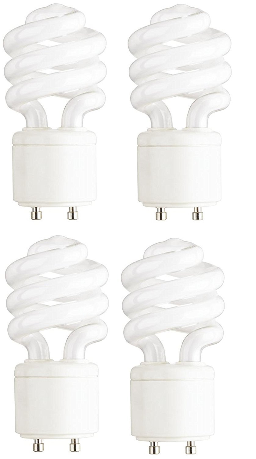 Dysmio Lighting - Mini-Twist CFL Light Bulb 60 Watt Equivalent 2700K (4-Pack)