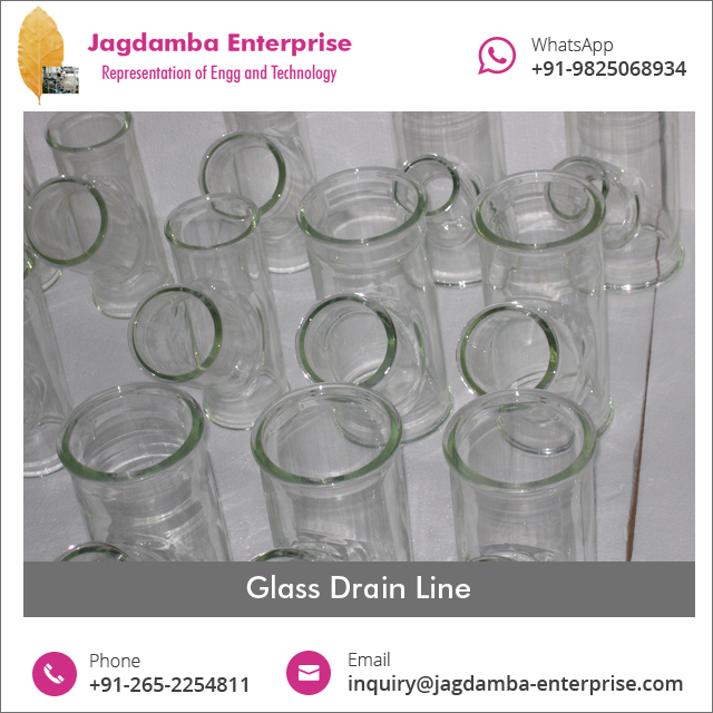 High Quality Bestseller Industrial Drain Line Components Made of Glass