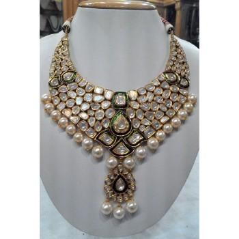076bdc415d5da Polki Kundan And Freshwater Pearls Choker Necklace Set~ Kundan And Pearl  Necklace Set Bridal Jewellery - Buy Bridal Kundan Pearl Necklace Set,Kundan  ...