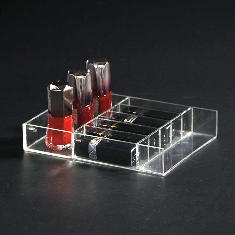 Multi-function clear acrylic cosmetic organizer lipstick /nail polish holder
