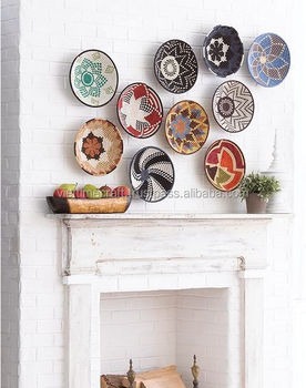Seagrass Wall Plate / Woven Seagrass Home Decor / Seagrass With ...