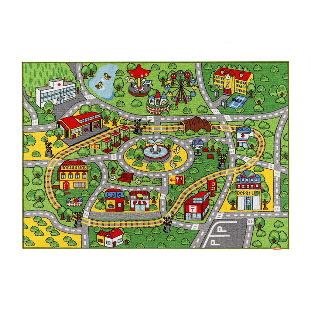 Get Quotations Jackson Large Kid Rug For Toy Cars Car Carpet With Non Slip Backing