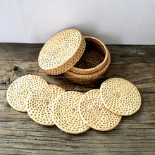 White rattan coasters cup, rattan coaster for wholesale