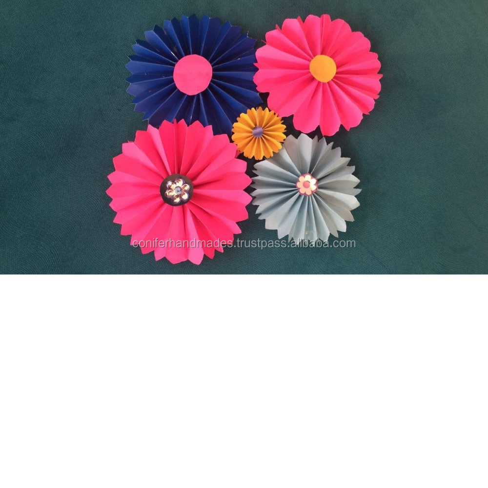 Die Cut Paper Flowers In Multicoloured For Art And Craftskids