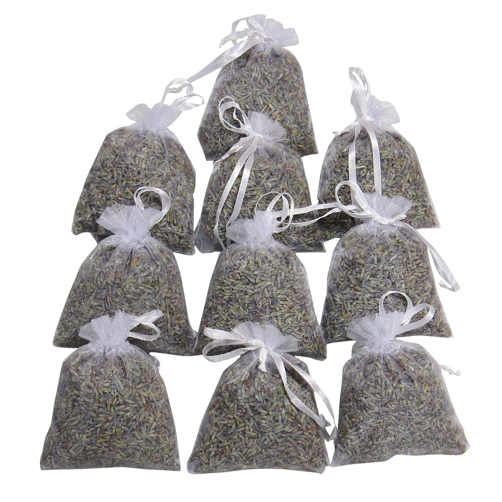 RakrisaSupplies Wedding Lavender Sachet Favor Toss | White Lavender Sachet Bags Pack of 15 | Highest Fragrance Lavender Scent Sachets | LS-007