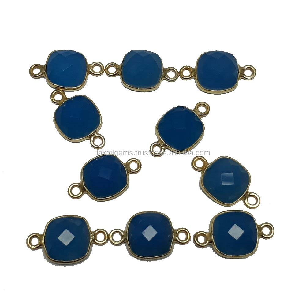Kissen Chalcedony Verbindungsstücke Mm Lünette Blue Edelstein Schmuck 8 2EH9DIWY