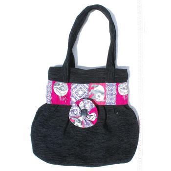 Large Black And Pink Hobo Bags Handmade Wool Handbags Knitting Fashion Product Great Exotic Design Purses