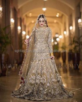 Most Beautiful Pakistani Wedding Bridal Dress 2019 - Buy Most Beautiful  Pakistani Wedding Bridal Dress 2019,Pakistani Wedding Bridal Dress