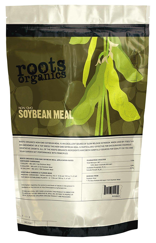 Roots Organics 715114 NonGMO Organic Soybean Meal Fertilizer, 20 lb