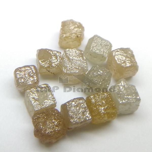 3 MM 0.30 CARAT PER PIECE CONGO CUBS NATURAL ROUGH DIAMOND BEADS Strand Raw Uncut Green Yellow Price Per Carat