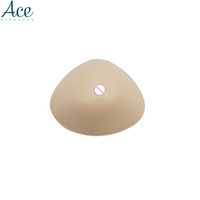 Triangle Shape Beige Light Silicone Breast Form Bra Mastectomy Boob Cancer Mastectomy Prosthesis Bra Enhancer