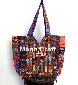 5914d513fd87 Banjara Mirror Work Tote Bags- Bohemian Banjara HandBags- Vintage Tribal  Tote Bags- Embroidered
