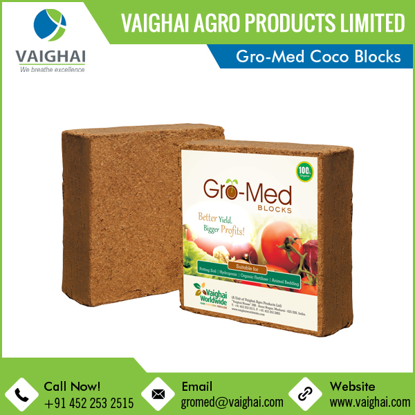 Gro-Med Coco Peat Blocks retail packing