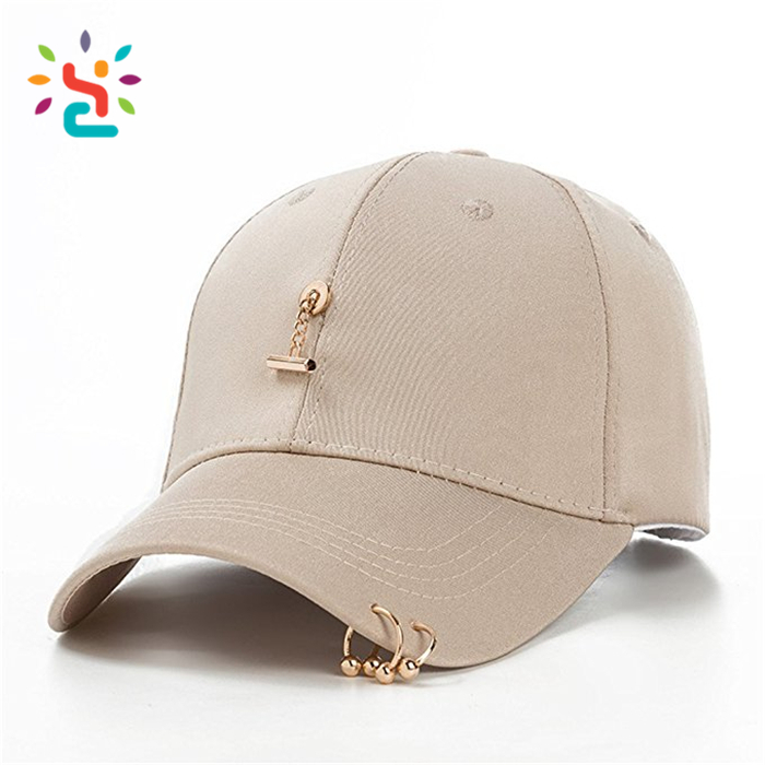 9f2710d65f6 Pierced two ring caps with private label custom homies touca Plain dad hat  no label hats