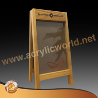 wooden A frame chalk board /sign folding sandwich board signs