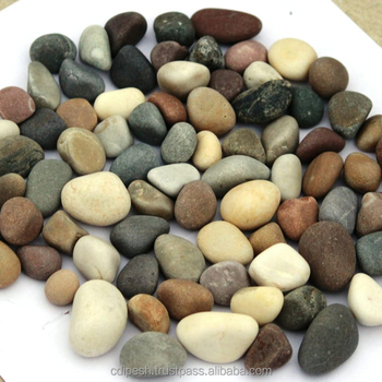 Indian wholesale river mix color round pebbles gravels stone for landscaping