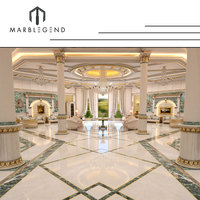 Custom Design Private Palace And Majlis Project Nano Crystallized Glass Panel White Nano Glass Flooring Tiles