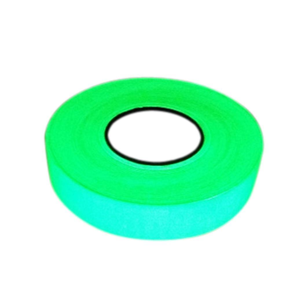 Luminous Tape,Hongxin Safety Sign Glow In The Dark Luminous Tape Green Fluorescent Tape,Photoluminescent (3m Length) (5cm width)