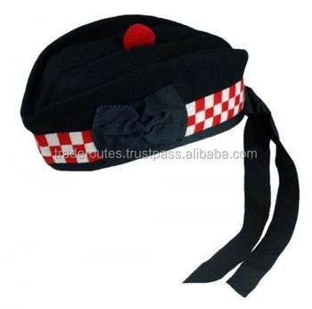 396217f1bbd Plain Black Glengarry Cap custom Wool Best Quality Hats Tri-1692 ...