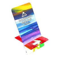 Small Upright Acrylic Phone Stand with your full color printed design