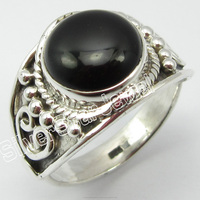 .925 Sterling Silver BLACK ONYX MODERN Rings Size 8 Girls' Jewelry Factory Direct Sale Natural Low Prices Jewelry Suppliers