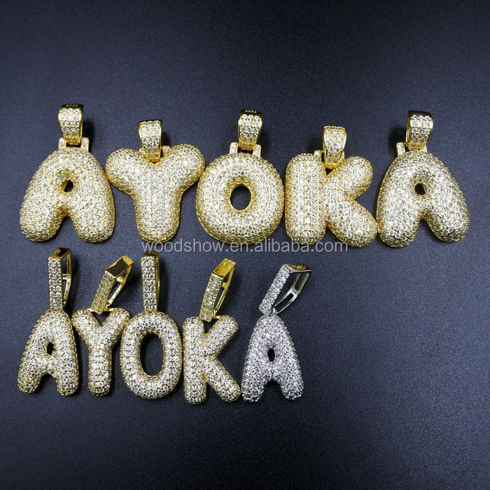 1c47e0ebc Hip Hop Custom Bubble Letter C Pendant 925 Silver Gold Alphabet Pendant  Jewelry