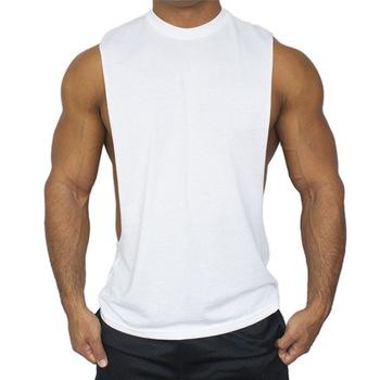 d89ea4e4 Sleeveless Side Less Muscle Gym Workout Singlets Tank Top Shirt ...