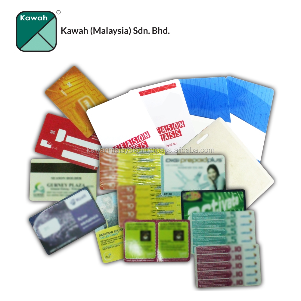Sticker for reload access card printing service