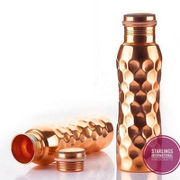 100% Pure Copper Bottle (Hammered)(Food Safe)