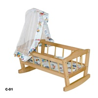 Wooden Doll Cradle Bed kid Dolls cot 'Sonya' Toy Baby furniture wooden baby doll crib