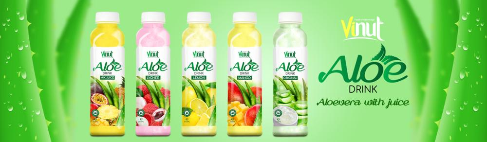 500ml Premium Quality Primary Ingredient Aloe vera Drink with lemon juice aloe vera drink