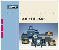 Portable dead weight tester 35270-5