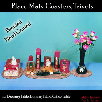 PLACE MAT, TRIVET, COASTER for DRESSING TABLE