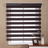 Economic Polyester Fabric Pleated Zebra Roller Blinds Spring