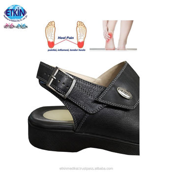 fa6fd267d27 Hot Sale Men Plantar Fasciitis Sandals With Soft Gel Silicone Heel Cushion  Model