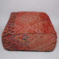 Vintage moroccan Boujaad azilal berber tribal floor pillow covers wholesaler beni ourain cushion N33