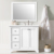 CHEN-36  36 inch solid wood+MDF dovetail drawer white bathroom vanity